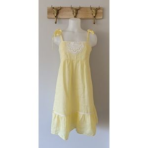•Lilly Pulitzer• Yellow Embroidered Sundress
